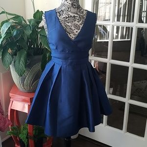 Navy Semi Formal Short Dress